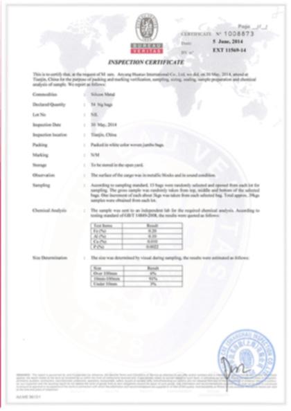 华拓冶金国际铁合金BV认证证书